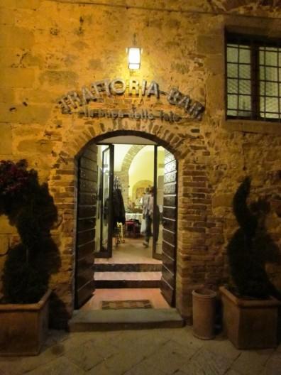 Restaurante em Pienza